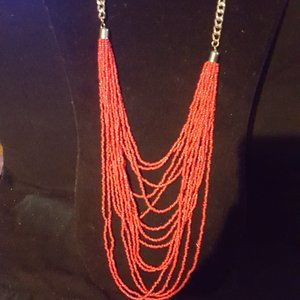 Paparazzi Red Seed Bead Necklace Set